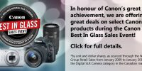 "Canon ""Best In Glass"" Sales Event!"