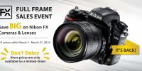 Nikon Sales Event – On Until March 31